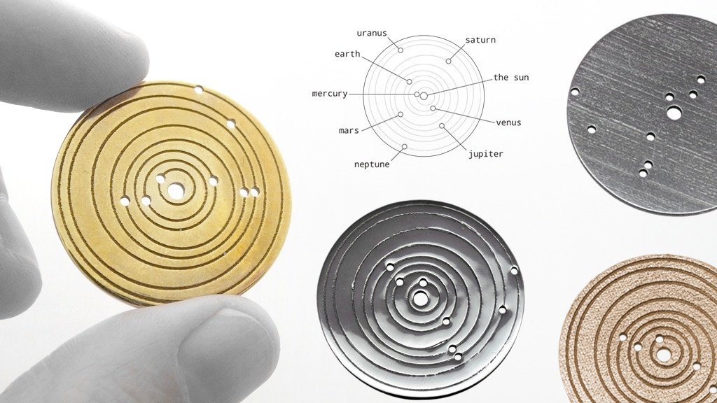 metal sun spiral spacetime coordinates memento celebrate a personal date by govy