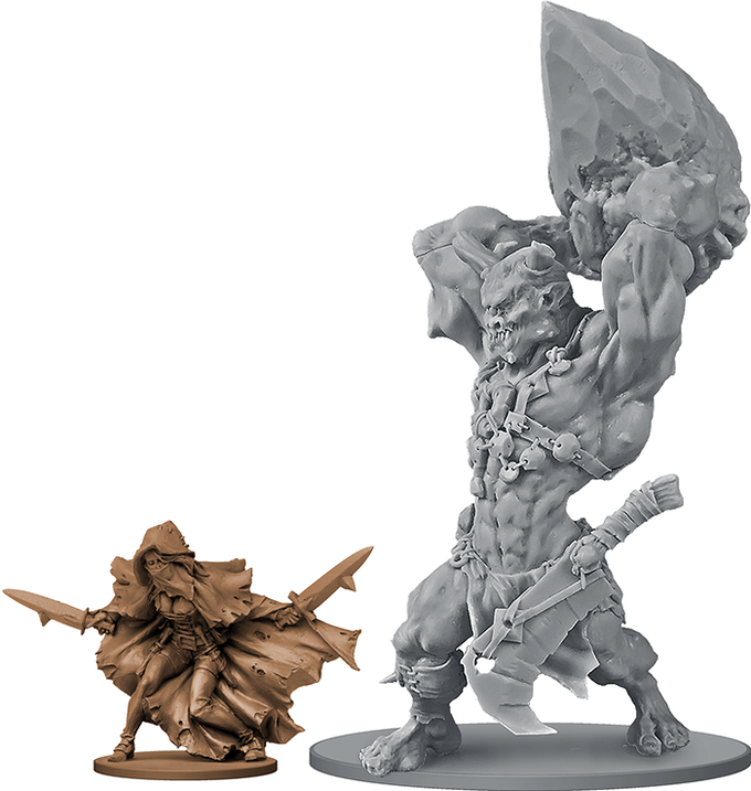 The imposing Cliffbreaker Cyclops figure (next to Whisper, for scale).