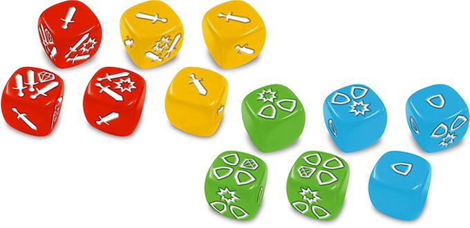Attack and Defense dice.
