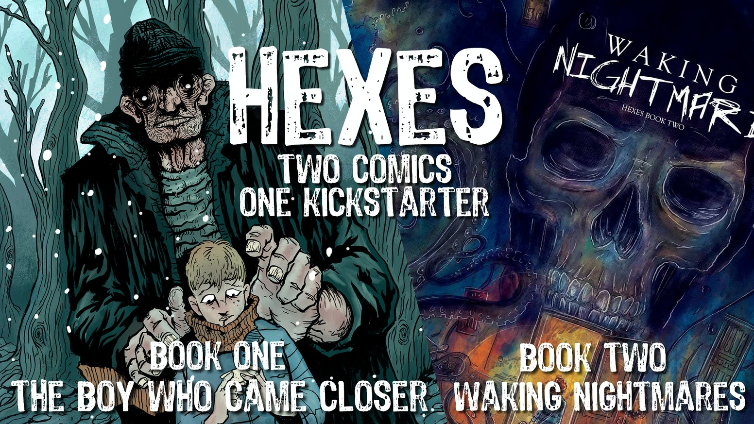 Enter the world of Hexes - one-shot supernatural/horror comics written by Simon Birks and drawn by some of the best artists today!