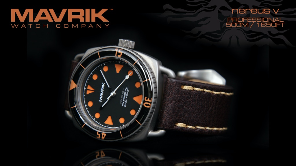 Project image for Nereus V – Vintage Dive / Tool Watch by Mavrik Watch Company