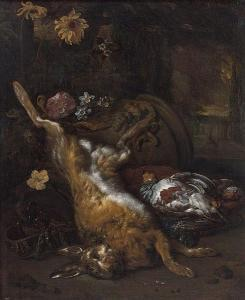 Jan Weenix - composition with hare and partridge -1690
