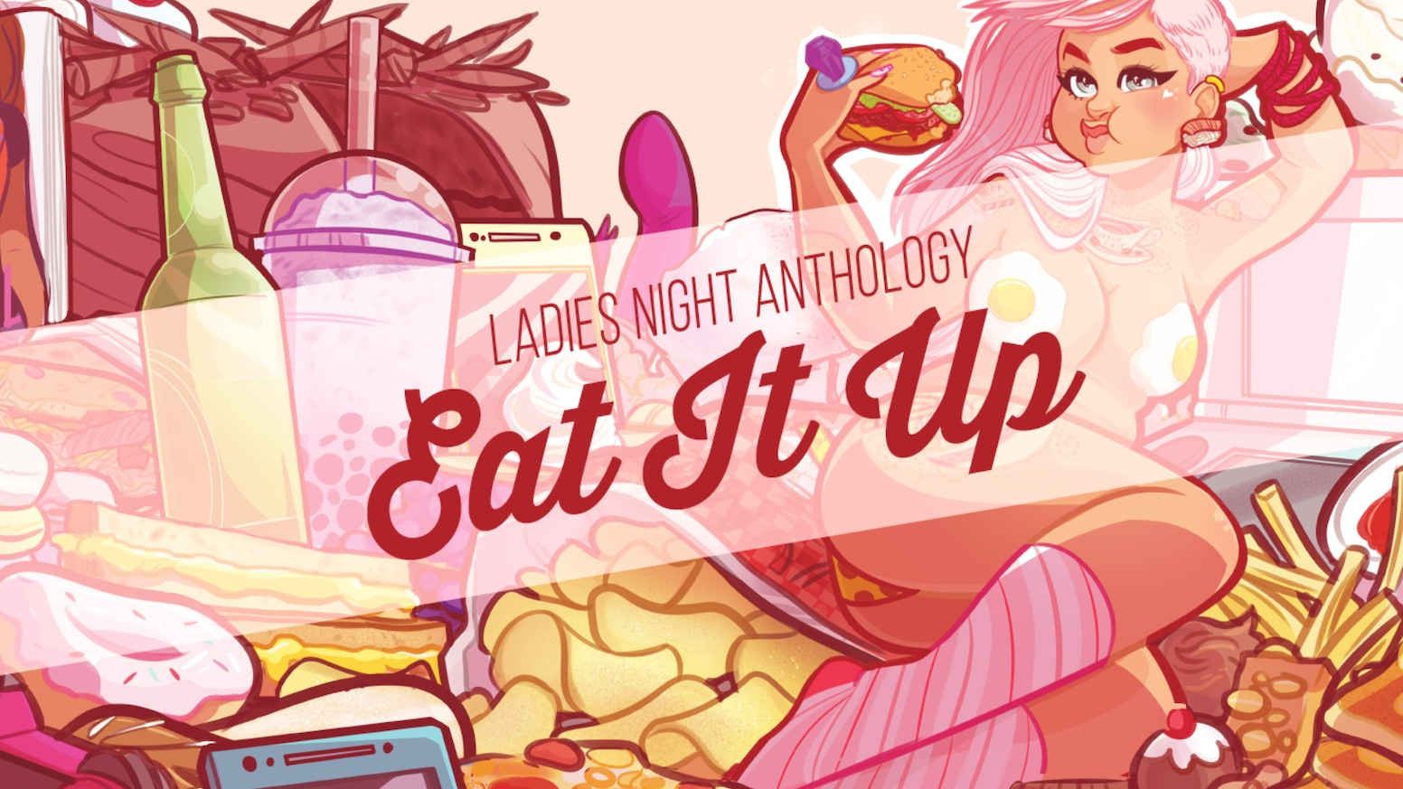 A comic anthology featuring the work of 19 talented women, Eat It Up focuses on everything we crave. This is LNA's 4th annual book!