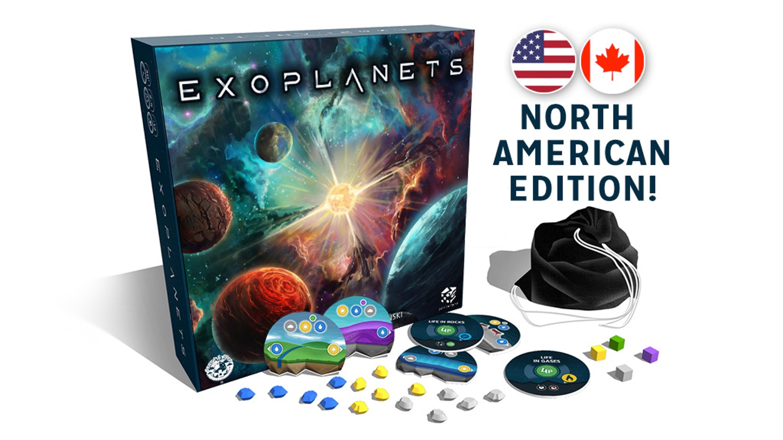Become the cosmic architect of a solar system! Create and develop life on planets in this 2-4 player, 45-60 minute board game!