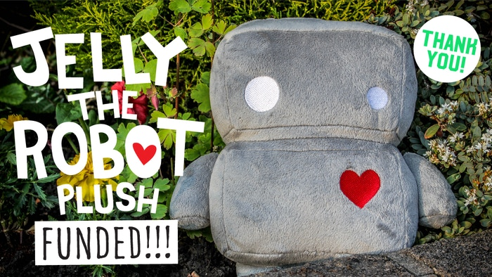 Meet Jelly. He's a robot, or rather a jellybot, who's programmed to be adorable. Help his plush toy army come to life!