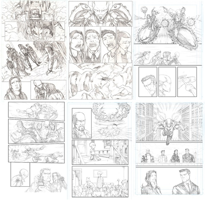 Get an original penciled page from SID Volume 1