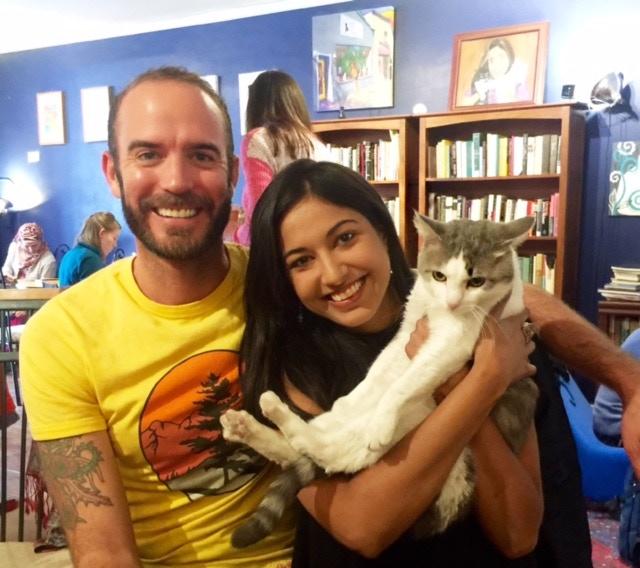 Happy people, happy cats.