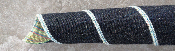 Reward #28 14.5 OZ CANDY WEFT V.1 WITH METALLIC BLUE SELVEDGE ID