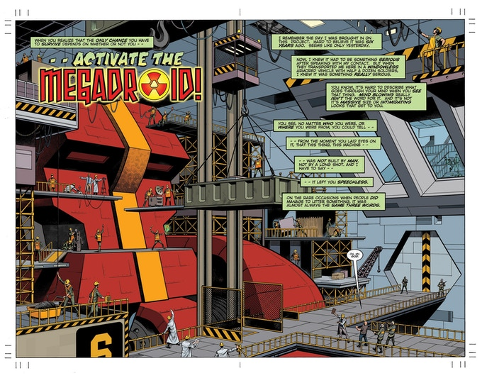 Double page spread from MEGADROID #1