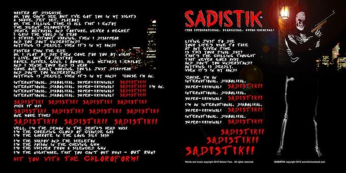 Sadistik - Trademark and Copyright Mort Todd/Comicflix