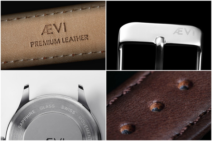 Engraved genuine Italian leather, backplate and strap buckle.