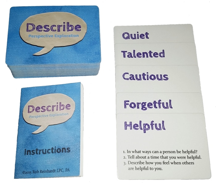 Describe is a deck of cards that help people understand one another through fun and interesting activities and games.Now available for order!