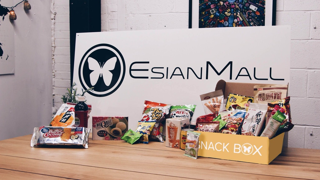 A subscription Box filled with amazing Asian snacks