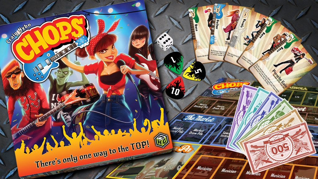 CHOPS - The Rock and Roll Board Game project video thumbnail