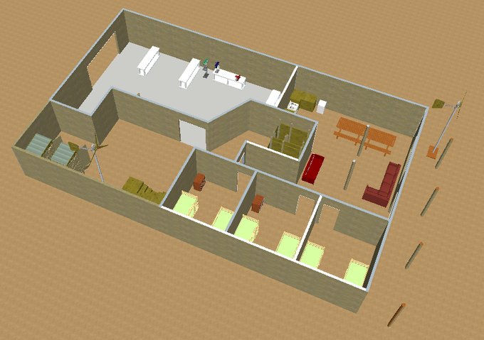 Aerial CAD Render of the Wind Workshop - No Roof