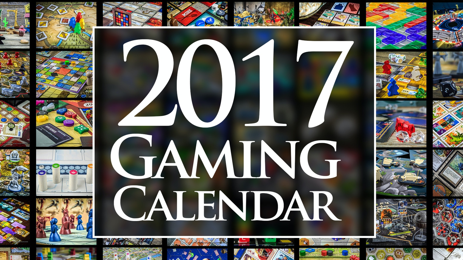 A 2017 Calendar featuring some of the coolest and prettiest board games of all time.