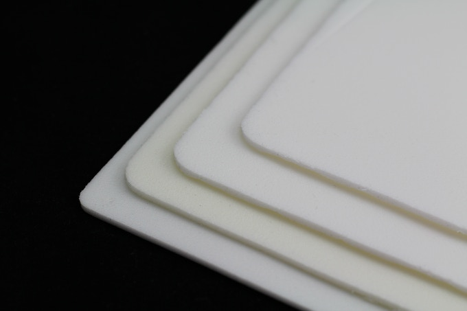 Experimented with different densities and grades of fire retardant foam for Glowaswitch's sealer gasket