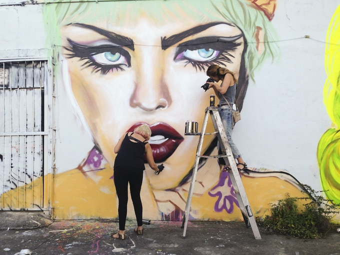 Alexandra documenting Lexi Bella. Wynwood, Miami