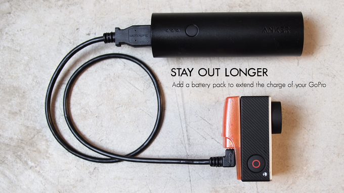 You'll never run out of power again with our auxiliary USB power input. It's compatible with most standard USB battery packs, so you'll always be powered up.