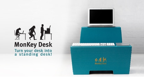 monkey desk einfach im stehen arbeiten by room in a box kickstarter. Black Bedroom Furniture Sets. Home Design Ideas