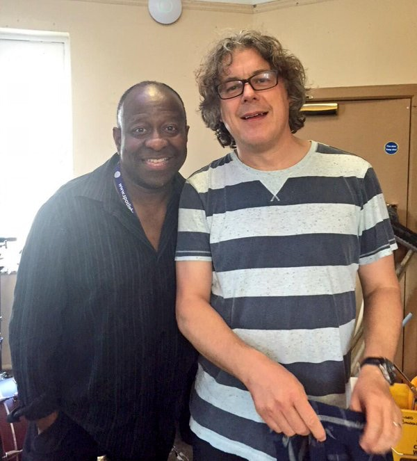 Dave with Alan Davies at Edinburgh Fringe 2015