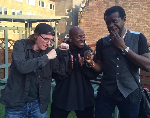 "DBP with Ed Bryne and Stephen K Amos, who teamed up to ""Get Their Own Back!"""