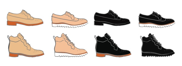 If you choose a black upper, you will also be able to choose an all-black sole or keep the same sole as on the Natural color options.