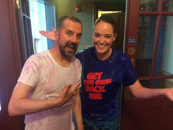 Our friends from STV, post-gunging!