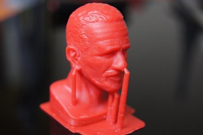 Human Head designed by Pixobox (x, y 30um, z 40um)