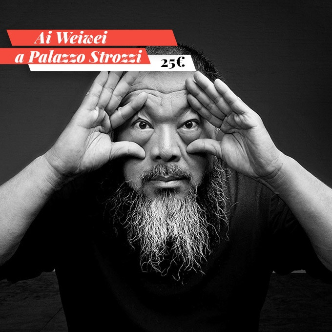 "Two tickets for the much-anticipated exhibition of ""Ai Weiwei a Palazzo Strozzi"" from 23 September 2016 to 22 January 2017"