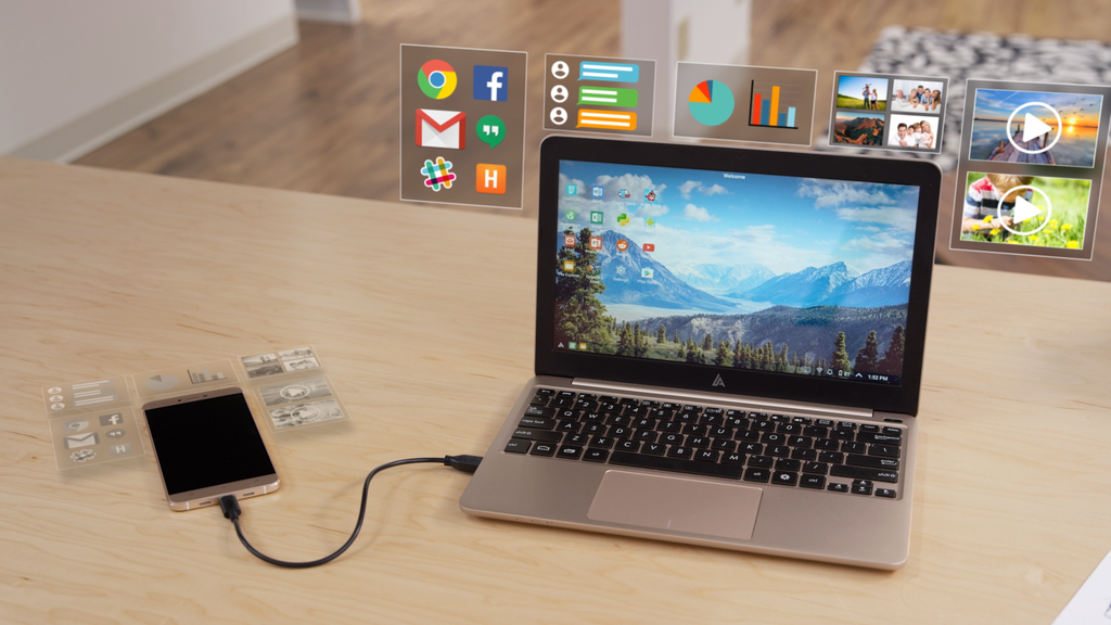 The Superbook: Turn your smartphone into a laptop for $99 project video thumbnail
