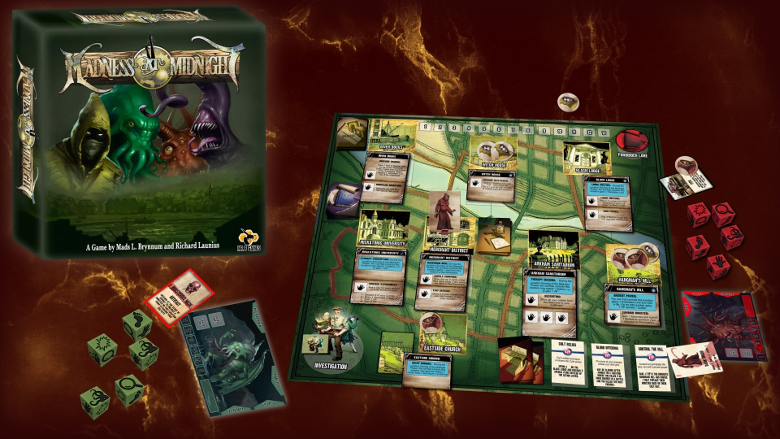 A game of Lovecraftian horror turned upside down. Will your cult rise to power, or will the investigators uncover your dark truths?