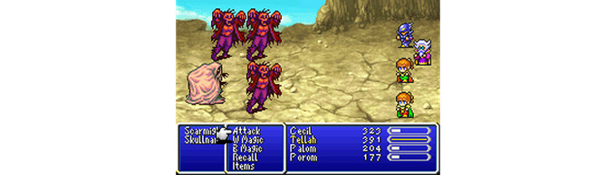 An example of the sideview battle system we are aiming for (like Final Fantasy IV).