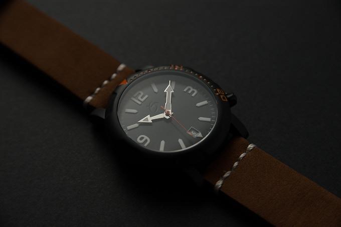 S1 Black - Genuine leather strap