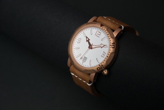 S 3 Rose Gold - Genuine leather Strap
