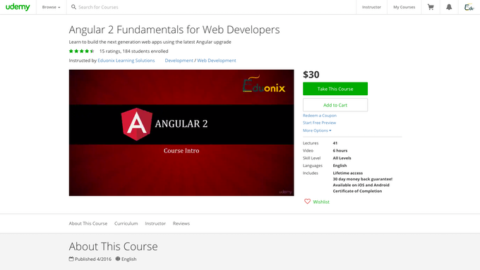 Angular 2 Fundamentals for Web Developers