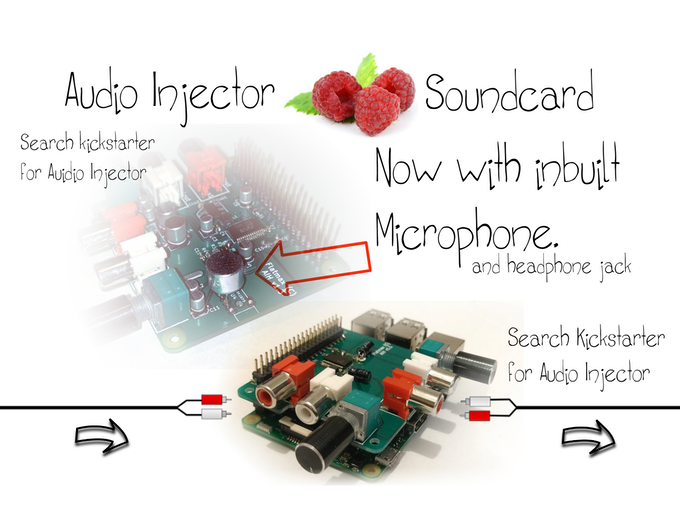 The old prototype and the latest with inbuilt microphone.
