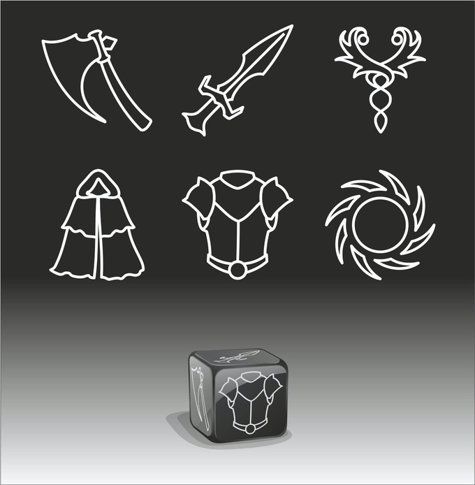 Spec Art for Custom Dice