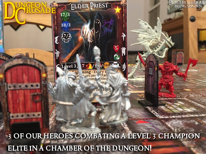 The Champion monsters reside in the chambers of the dungeon. You will never know what lurks behind the door, until entering the chamber with your heroes.