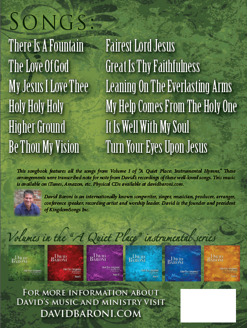A Quiet Place Hymns Songbook by David Baroni — Kickstarter
