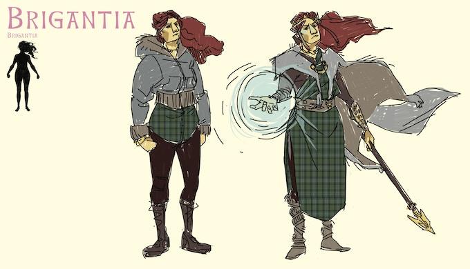 Design sheet for Brigantia