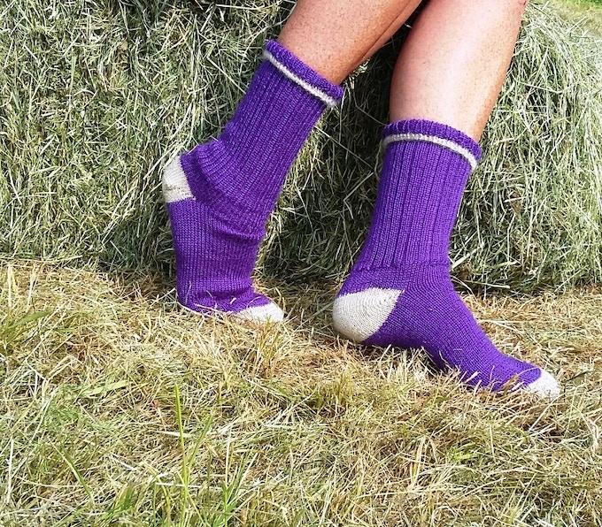 Wensleydale Contrast Socks