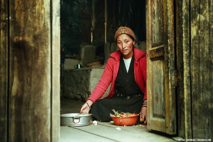 Local woman in Langtang region.