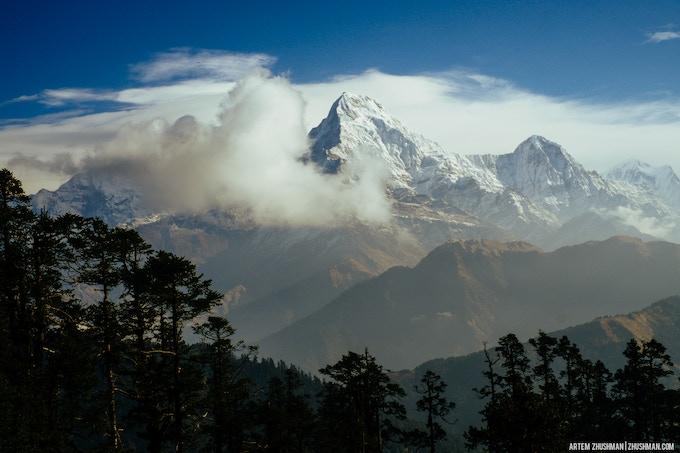 View on Annapurna mountain.