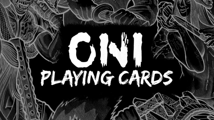 Fully custom playing card deck inspired by demons, fiends, and evil spirits from Japanese mythology.