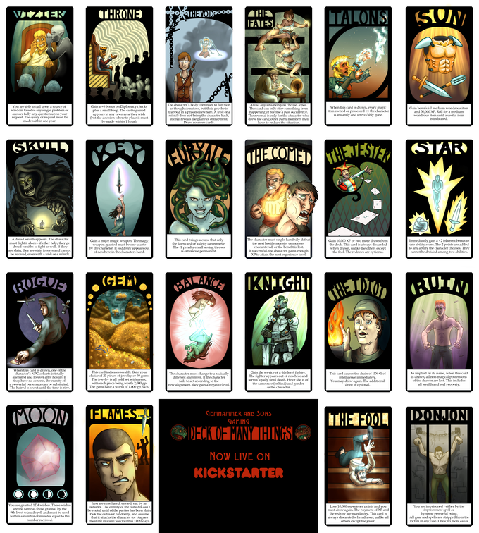 Gemhammer Deck Of Many Things Redux The Relaunchening By