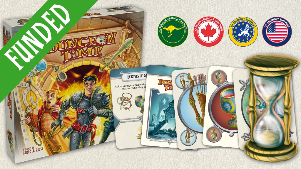Dungeon Time - A Cooperative Real Time Fantasy Card Game miniatura de video del proyecto