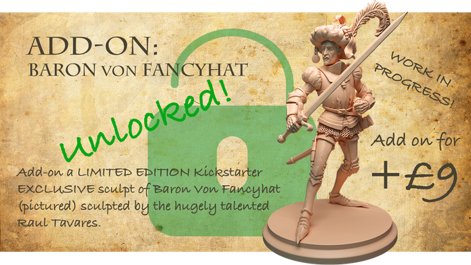 Stretch Goal 3: B.V. Fancyhat Add-on available for +£9.