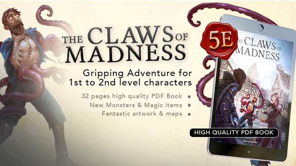 The Claws of Madness - Roleplaying Adventure 5e project video thumbnail