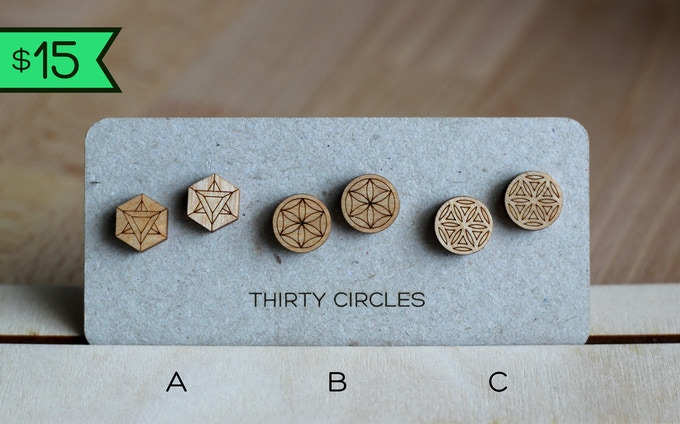 $15 Reward: choose one of three pairs of studs